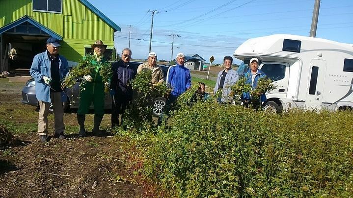 続、ソバ栽培の体験会