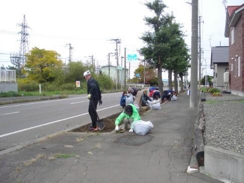 秋の町内一斉清掃