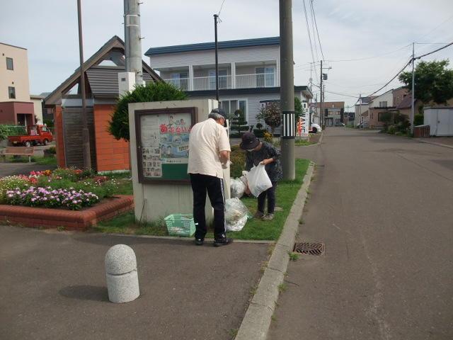 スルー方式で地域内ゴミ拾い