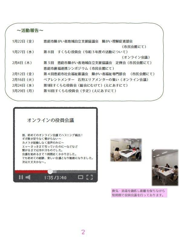 すくらむ通信 vol.36 2021/2/26発行